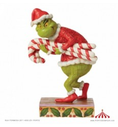 Grinch Stealing Candy Canes Figurine