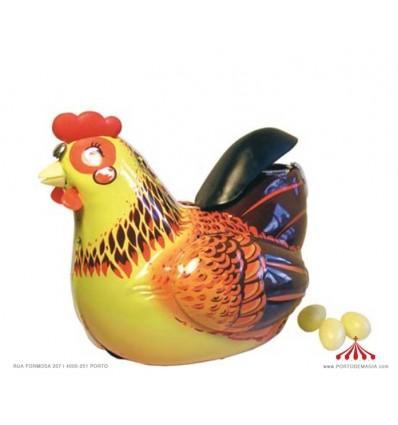 Chicken lays eggs
