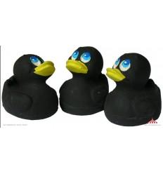 Mini black latex duck