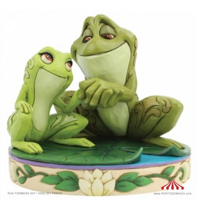 Amorous Amphibians (Tiana and Naveen as Frogs Figurine) - Disney