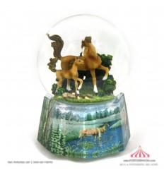 Bola de Neve com cavalos