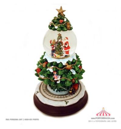 Árvore de Natal com bola
