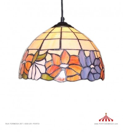 Tiffany Flor - Candeeiro de tecto