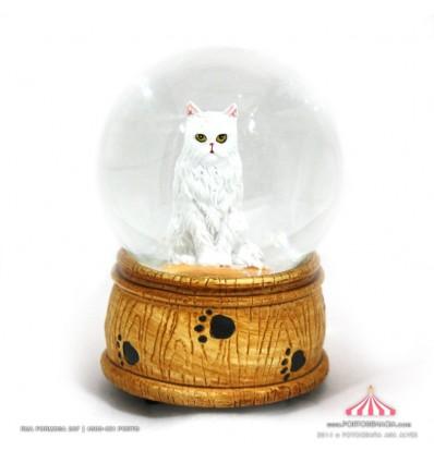 Bola de Neve com Gato Branco