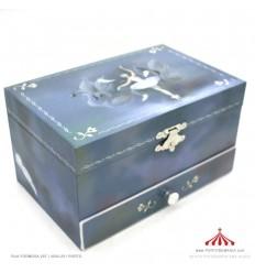 Guarda-Joias Azul com gaveta