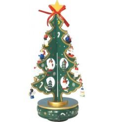 Arvore Natalicia verde em madeir