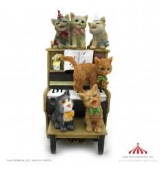 Piano com gatos em Polystone