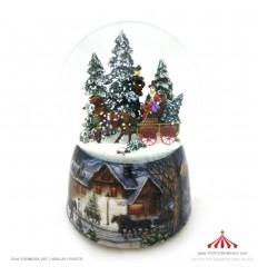 Bola de neve carruagem