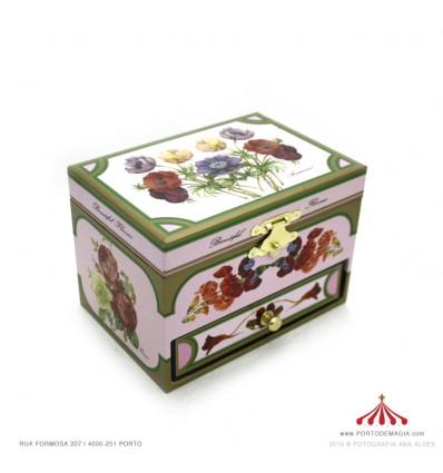 Caixa de música com gaveta Dançarina Botânico