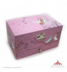 Caixa de Joias Rapariga na arvore