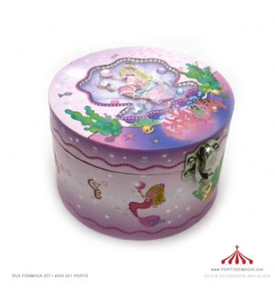 Caixa redonda sereia