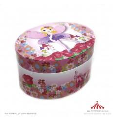 Caixa de Música - borboleta oval