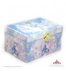 Caixa azul bailarina