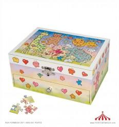 Caixa de Música - animais puzzle