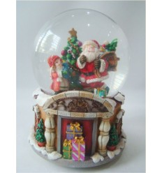 Bola de Neve Pai Natal com Menina