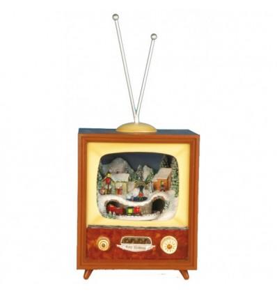 TV pequena castanha