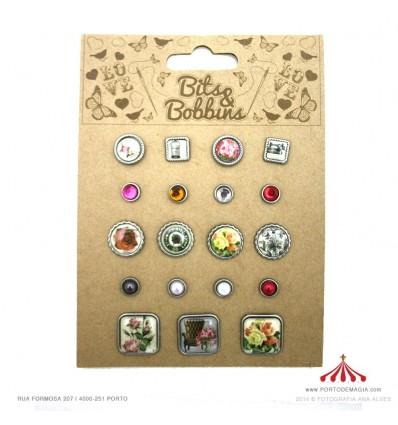 Botões decorativos metal