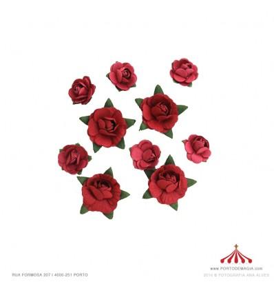 Botões rosas decorativos