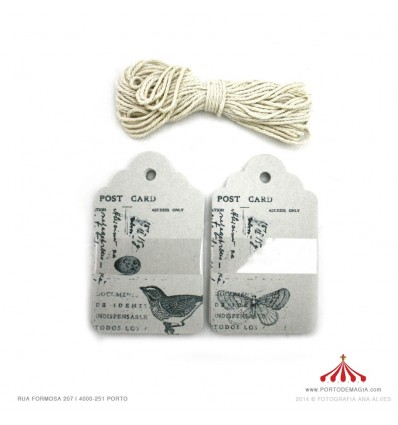 Etiquetas post card