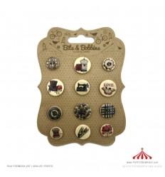 Botões decorativos
