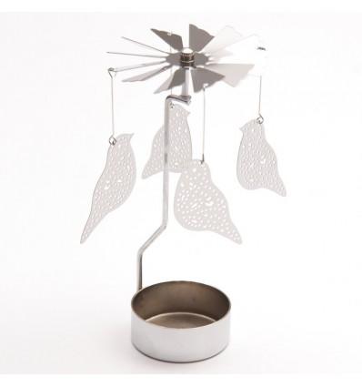 Porta velas pássaros