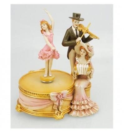 Violinista com bailarina