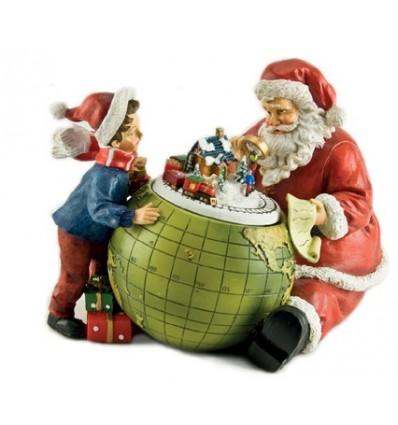 Pai Natal com globo terrestre