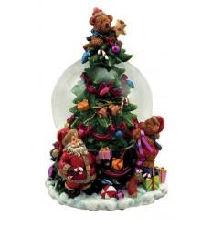 Árvore de Natal com globo