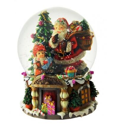 Globo Neve pai Natal com presentes