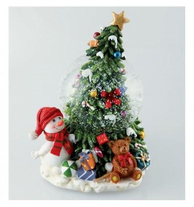 Boneco de Neve com Árvore de Natal
