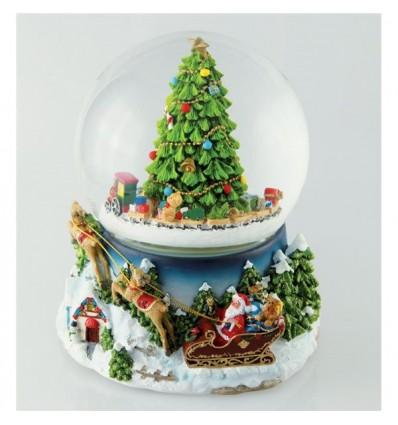 Globo Árvore de Natal com trenó
