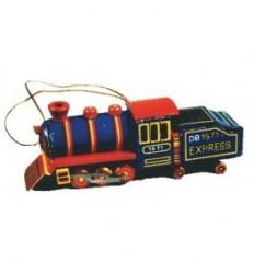 Mini locomotiva azul