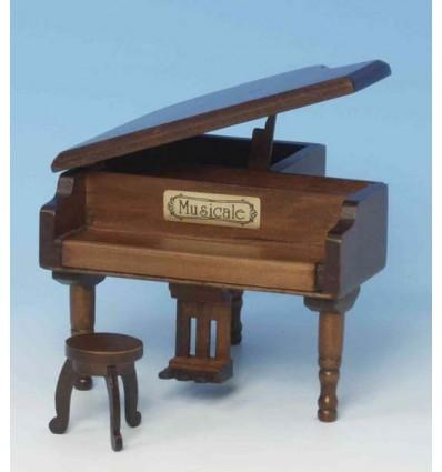 Piano de cauda em madeira