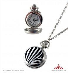 Colar Relógio zebra