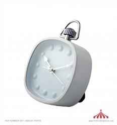 Despertador branco quadrado