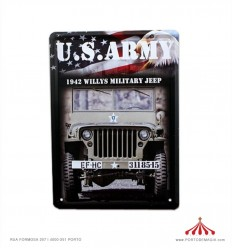 Placa em Metal - US ARMY