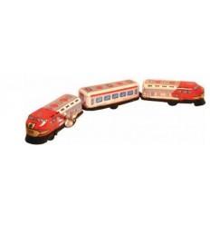 Comboio com três carruagens