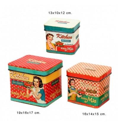 Conjunto ciaxas vintage