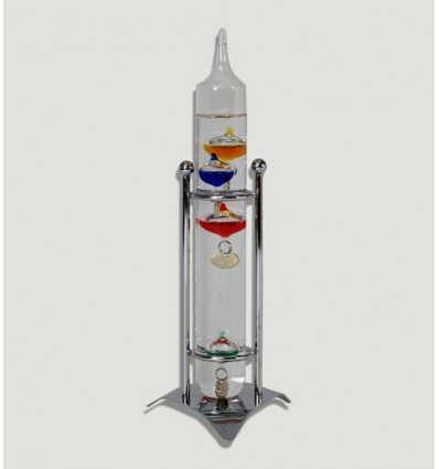 Termómetro Cristal Galileu com pé de metal