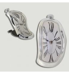 Relógio Salvador Dali Prateado Num Romanos