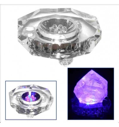 Base de Luz Cristal octagonal