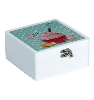 Caixa de madeira cupcake