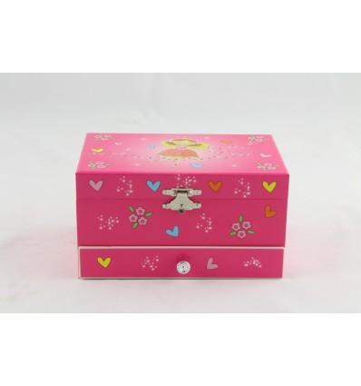 Caixa fada cor-de-rosa