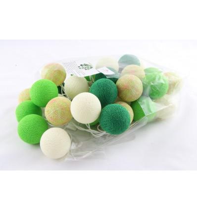 Iluminação Bolas brancas e verdes
