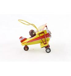 Mini biplano com piloto