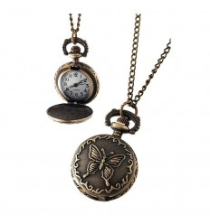 Relógio de Bolso Borboleta