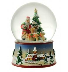 Bola Neve Pai Natal e renas