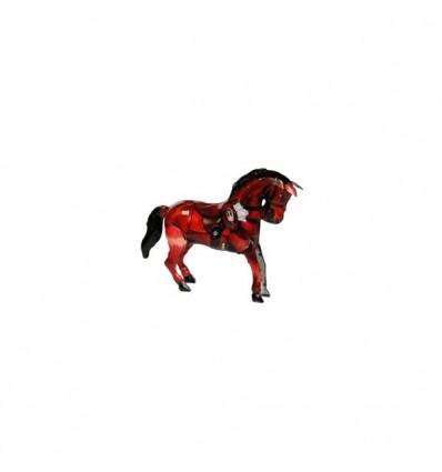 Cavalo castanho em chapa