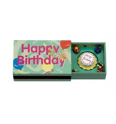 """Caixa de fósforos 2 """"Happy Birthday"""""""