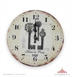 Relógio Paris em madeira 34cm